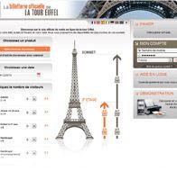 Eiffel Tower ticketing website