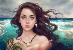 'Water Splash' Adoptable Portrait by Selenada.deviantart.com on @DeviantArt