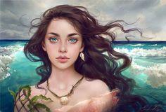 'Water Splash' Adoptable Portrait (CLOSED) by Selenada on DeviantArt