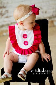 Baby RUFFLE Onesie Accesory BIB Dress Baby Bib for by apPEARelTREE, $15.99