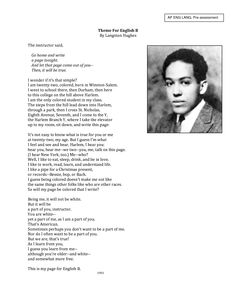 theme for english b and harlem a dream deferred Get an answer for 'how do i compare and contrast theme for english b, and harlemwe also have to compare and contrast theme and setting on the two poems chosen' and find homework help for .