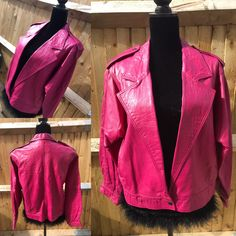 A personal favourite from my Etsy shop https://www.etsy.com/uk/listing/527169163/original-vintage-1980s-pink-leather