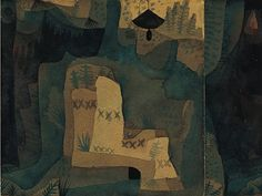 Paul Klee 'Black Bell in the Forest' 1921 Watercolor,gouache and India ink on wove papers,mounted on cardboard 5 x 7 Kandinsky, Norton Simon, Statues, Paul Klee Art, India Ink, Design Theory, Sculpture, Gouache, Oeuvre D'art
