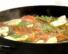 Recetas | Cocineros Argentinos - Carnes - Bifes a la criolla con papas y arvejas