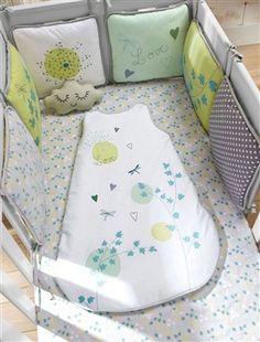 Protector de cuna modulable bebé Cuento de poesía, Habitación bebé