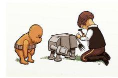 Winnie the Pooh meets Star Wars..