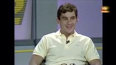 Ayrton Senna during interview with Spanish sports channel TVE (Teledeporte (TDP)) in Sant Cugat del Valles, Catalunya, Spain in 1987.