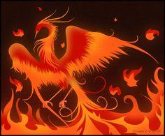 Playing With a Fire Bird by princess-phoenix.deviantart.com