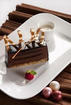 There is more to life than chocolate, but not right now.  This Maya Cake has been nominated as the best chocolate cake in the world.  (Four Seasons Hotel Mexico, D.F.)