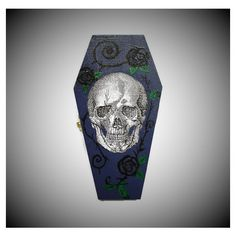 Halloween Skull Coffin Ring Box In Purple Blue, Skull Gift Box, Coffin... ($13) ❤ liked on Polyvore featuring home, home decor, jewelry storage, blue trinket box, skull jewelry box, blue home decor, purple home accessories and skull home decor