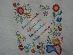 tablecloth-detail -embroidery inspired on lenços de namorados, (Portugal)