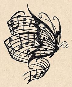 Used this image in one of my Pyrography Projects. Butterfly Music notes