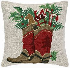 A little Western flair works for holiday and any day when it comes to design. Bold and delightful, this amazing pillow is huge and really makes a statement! Celebrate tradition with this gorgeous patt