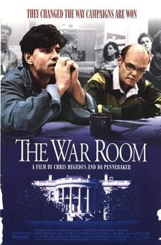 """Sit in on the mythic organization behind Bill Clinton during the 1992 presidential election—The Hammer will be screening """"The War Room,"""" a documentary of the Clinton campaign starring James Carville, George Stephanopoulos, and Heather Beckel, on Thursday August 23, at 7:30 p.m. (1993, Dirs. C. Hegedus, D. A. Pennebaker, 96 min.)"""