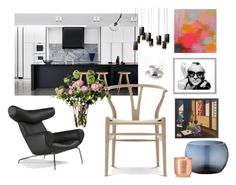 """""""Home"""" by malinandersson on Polyvore featuring interior, interiors, interior design, home, home decor, interior decorating, Georg Jensen, Modernica, Eichholtz and Tom Dixon"""
