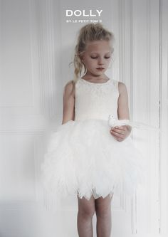 182ef84e30afc DOLLY by Le Petit Tom ® FANCIFUL DRESS off-white. Dolly DressKids TutuBallet  ...