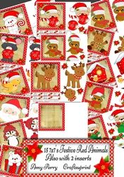 15 7x7 Festive Red Cuties on Craftsuprint - View Now!