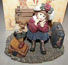 Boyds Bears Dollstone Shannon & Wilson Wait'n For Grandma MIB 1998