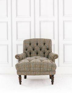 Grange Harris Tweed Chair In Bracken At Rose And Grey
