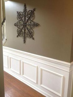 best ideas for wall paneling diy wainscoting hallways Faux Wainscoting, Dining Room Wainscoting, Wainscoting Ideas, Easy Home Upgrades, Narrow Hallway Decorating, Painting Wood Paneling, Paneling Walls, Paneling Ideas, Wall Panelling
