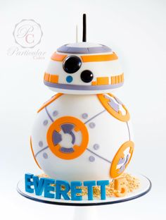 BB-8 3D Starwars Cake by Particular Cakes