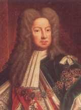 King George I (1714-1727). House of Hanover. 6th great-grandfather to Elizabeth II. Reign: 12 yr, 10 mos, 9 days and succeeded by son, George II.