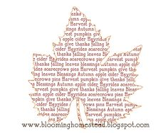 Blooming Homestead: 2011 Thanksgiving Printables