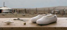 Fair Trade Pantoffeln aus der Mongolei.