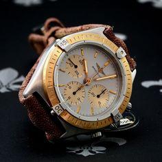 NOS 1989 BREITLING Callisto Chronograph Watch Ref. 80520AORP Lemania 1873 Boxed