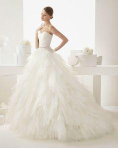 Wedding dress. Wedding Gown. Rosa Clara's 2014 collection. #bacheloretteandbride
