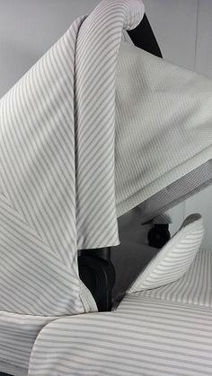 Vestidura Uppababy detalle lateral cubrepies y capota