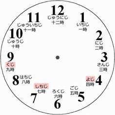 Printable: Clock by ~LearningJapanese on deviantART