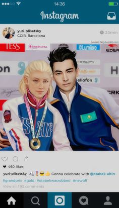 A more realistic take on Yuri and Otabek.