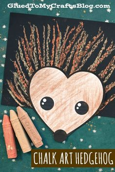 Paper & Chalk Art Hedgehog Craft For Kids To Make Today!-Paper & Chalk Art Hedgehog Craft For Kids To Make Today! Summer Crafts For Kids, Crafts For Kids To Make, Art For Kids, Kindergarten Crafts, Preschool Crafts, Autumn Crafts, Spring Crafts, Hedgehog Craft, Art Ideas For Teens
