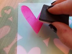 Photo Tutorial by Tracy on her creation for the Simon Says Stamp Monday challenge (Love Letters) February 2014
