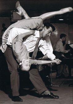 A couple doing the Lindy Hop, 1950s - Imgur