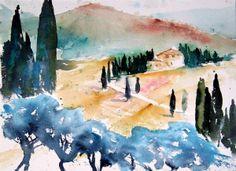 2011-10-09 - Toskana Landschaft bei Arezzo aquarellestark.wordpress.com