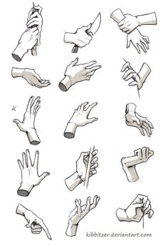 "Drawing People kibbi: "" Hands/Feet References by *Kibbitzer I hope this will help you! (more stuff here) "" - Drawing Practice, Drawing Poses, Drawing Tips, Figure Drawing, Drawing Sketches, Drawing Hands, Hand Drawings, Hand Drawing Reference, Anatomy Reference"