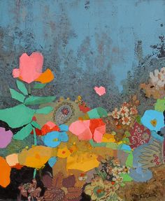 """Floral Diptych II"" - Painting by Mark English"
