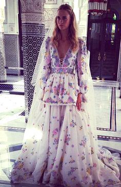 Poppy Delevinge wearing Pucci for her wedding in Marrakesh
