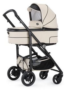 Bebecar SpotTech in Cream Magic.  The new SpotTech is the only pushchair you'll ever need. It combines the compact folding of a lightweight stroller with the comfort of a luxury pram.