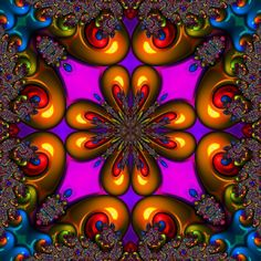 Kaleidascope fractal - remember those tubes that you twisted while looking through a small hole to the amazing colours and patterns?