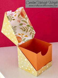 Diagonal Opening Gift Box Video Tutorial with Stampin' Up Products. Diagonal Opening Gift Box Video Tutorial with Stampin' Up Products. The post Diagonal Opening Gift Box Video Tutorial with Stampin' Up Products. appeared first on Paper Diy. Paper Gift Box, Paper Gifts, Diy Paper Box, Cardboard Gift Boxes, Origami Gifts, 3d Paper Crafts, Foam Crafts, Paper Toys, Craft Box