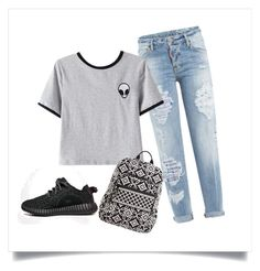 """""""How To Rock Your Ripped Jenas"""" by yourism on Polyvore featuring Dsquared2, Chicnova Fashion, Vera Bradley and adidas"""