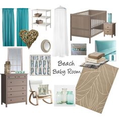 """""""Beach Baby Room"""" but take out the heart...make for a boy"""