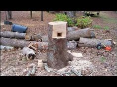 Redneck log holder, great idea, vs buying one they call the smart holder, I think I would make one for small stuff and a larger one for some bigger logs.