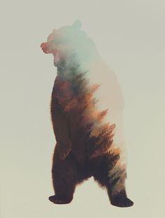Andreas Lie est un artiste norvégien adepte des jeux de doubles expositions. En utilisant deux photographies différentes il créer une double exposition où paysages se fondent avec les animaux sauvages. Toutes les photos ici : http://bit.ly/Blog20150505am
