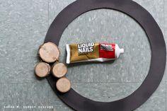 DIY Wood Slice Wreath | Tutorial