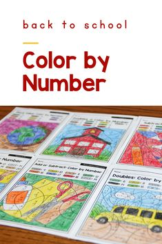 Back to School color by number 2nd grade math worksheets are a fun way for kids to practice addition, subtraction, place value and telling time. Use these printable pages for morning work for students or for early finishers in the classroom or homeschool setting. #BackToSchool  #Addition #Subtraction  #PrimaryDelight 2nd Grade Math Worksheets, First Grade Math, Teaching Subtraction, Math Pages, Addition Games, Subitizing, Tally Marks, Early Finishers, Basic Math