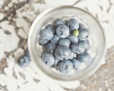 Food Print  Blueberries  Shabby Chic Kitchen by LisaRussoFineArt